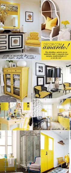 #decoração, #amarelo