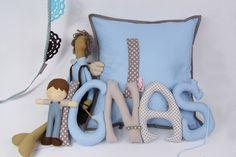 Cute fabric letters Fabric Letters, Cute, Kawaii