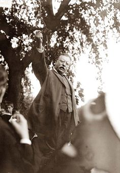 Teddy Roosevelt Speaking