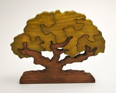 Escandinavian Tree of Wishes - Good Luck Gift - Wooden Home Decor Puzzle - Olive Tree #teampinterest