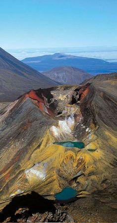 Mt Tongariro in New Zealand.