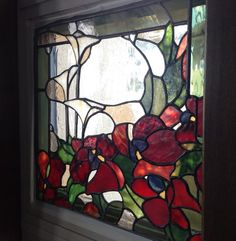 Stained Glass Panel by ArtNouveauObsession on Etsy                              …