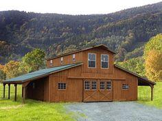 Monitor barn plans barn style houses pinterest barn for Prefab barns with living quarters