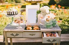 Green Wedding Shoes Feature: Patisserie Inspired Sweets Table : Parisian Vow Renewal : Lovelyfest Event Design