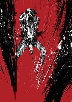 Kiss of vengeance, short film Illustrations by toni infante, via Behance Graphic Prints, Art Prints, Indie Art, Typography Poster, Gig Poster, True Art, Comic Book Artists, Illustration Sketches, Art Studies