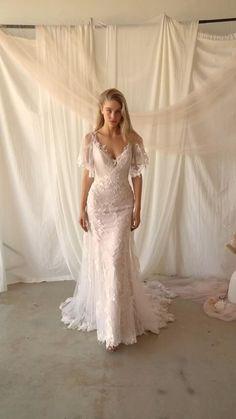 Rustic Wedding Dresses, Dream Wedding Dresses, Wedding Gowns, Boho Wedding Dress, Wedding Dress Necklines, Necklines For Dresses, Dresses Uk, Dresses Online, Fairytale Dress