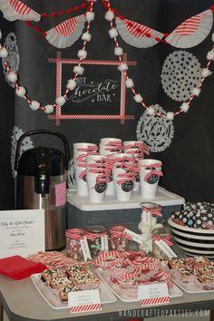 Hot Cocoa Dessert Bar: party decor tutorials + dessert recipes {Handcrafted Parties}
