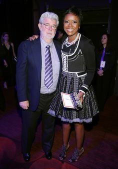 photo TIME100Gala Melody and George Lucas #STARWARS