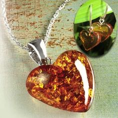 amber heart necklace - I have one already from Denmark