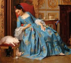 Ball of Yarn, by Joseph Caraud (French, 1821-1905), 1863.