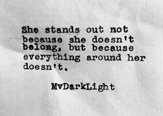 She stands out ...