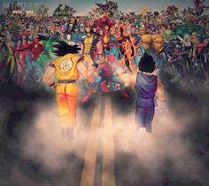 Goku & Vegeta VS Marvel