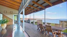 Lake Terrace Taupo, Luxury House in Lake Taupo, New Zealand Lake Taupo New Zealand, Luxury Accommodation, Luxury Holidays, Pergola, Villa, Outdoor Structures, Patio, Amazing, Outdoor Decor