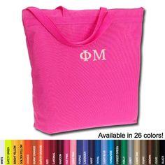 Phi Mu Sorority Tote Bag $19.95