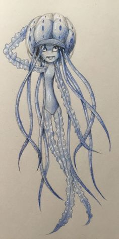 Jellyfish based on Shark Tale Shark Tale Jellyfish, Bullet Journal Birthday Page, Jackson Music, Ancient Egypt, Pirates, Sailor, Tatting, Arms, Drawings