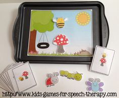 Spring Speech Therapy Activities - Pronouns, Verbs & basic concepts.