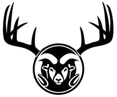 Hunting Camo Deer Antler Car Truck Decal CSU Colorado State Univ Show Your Pride