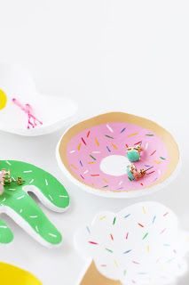 Ultimate Donut Craft Roundup - DIY Donut, Cactus, and Ice Cream Cone Jewelry Trays!