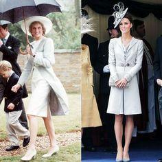 Princess Diana and Kate Middleton's Similar Style