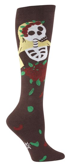 Gift ideas for the woman in your life: Dia de los Muertos socks
