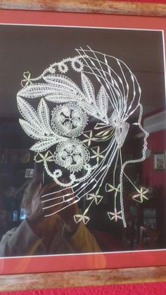 Bobbin Lace Patterns, Lacemaking, String Art, Madonna, Dream Catcher, Diy And Crafts, Projects To Try, Shapes, Lady