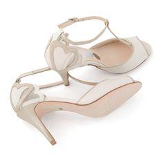 Sandalias de Novia T-Bar modelo Amelia de Charlotte Mills ➡️ #LosZapatosdetuBoda #Boda
