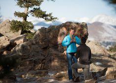 Proposal Flagstaff Mountain Boulder Surprise Proposal Hidden Photographer