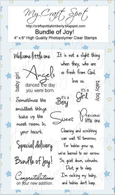 Clear Stamps - Sayings for Baby Cards Scrapbook Quotes, Scrapbook Titles, Baby Scrapbook, Scrapbook Designs, Scrapbooking Layouts, Greeting Card Sentiments, Greeting Cards Handmade, Verses For Cards, Card Sayings