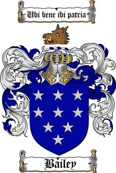 bailey coat of arms / motto: Ones country is where one is well