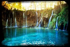 Plitvice Waterfalls, Northeern Dalmatia region, Croatia.