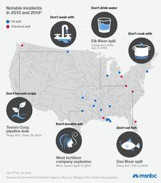 Map: How toxic spills impact communities   MSNBC