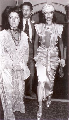 Bianca Jagger and Zandra Rhodes at Studio 64