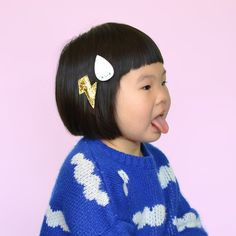 stormy weather clips // hello shiso hair accessories for girls