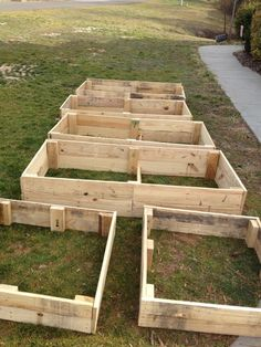Raised garden beds recycled from pallets