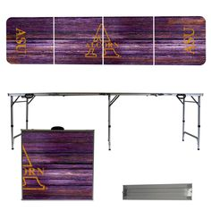 Alcorn State Braves Weathered Folding Table