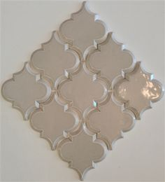 Beveled Arabesque Glazed Ceramic Wall Tile Backsplash Tiles