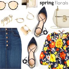 Spring look by dressedbyrose on Polyvore featuring moda, J.Crew, J Brand, Chloé, Marc Jacobs, Trina Turk, Madewell, Burberry, Spring and polyvoreeditorial