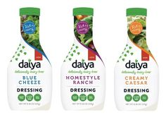We already know and love Daiya's vegan cheese, and we can't wait to try these new creamy salad dressings.
