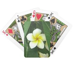 Plumeria Exotique Bicycle Poker Cards