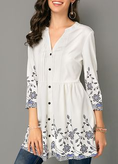 trendy tops for women online on sale Trendy Tops For Women, Blouses For Women, Stylish Dresses For Girls, Stylish Clothes, Kurti Sleeves Design, Tunic Blouse, Blouse Neck, Tunic Tops, Kurta Designs Women