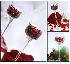 Unsrere #Dekoidee: #Glas, #Dekodiamanten und #Kerze :) Cherry, Fruit, Food, Candles, Decorating Ideas, Corning Glass, Essen, Meals, Prunus