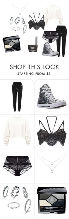 """xscdvfg"" by spookysparkleyghosts on Polyvore featuring Markus Lupfer, Converse, Miss Selfridge, For Love & Lemons, La Perla and Christian Dior"