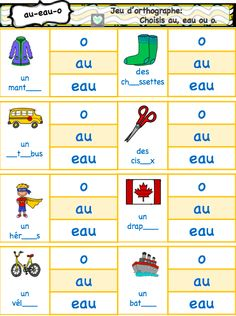 Jeux de phonologie- Le son «o French Teaching Resources, Teaching French, French Language Lessons, French Lessons, Learning French For Kids, Kids Learning, French Classroom, School Classroom, French Worksheets