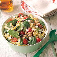 I made this today and it is soooooo delicious..   Greek Pasta Salad | MyRecipes.com