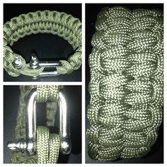 #paracord #bracelet #blazebar #blaze #bar #silvershackle #Dring #ring #olivedrab #olive #drab #550paracord email for more information: knottysurprise@gmail.com