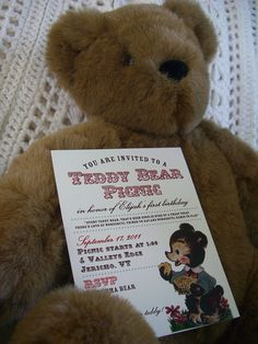Teddy Bear Picnic Invite!