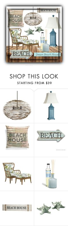 """""""Dream Beach House"""" by sabine-713 ❤ liked on Polyvore featuring interior, interiors, interior design, home, home decor, interior decorating, Arteriors, Stylecraft, Primitives By Kathy and Tommy Bahama"""
