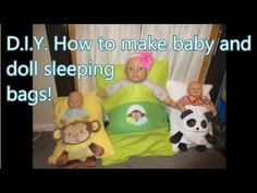 D.I.Y. Baby \u0026 dolly sleeping bags - YouTube & How To Make Pillowcase Baby Sleeping Bag | Baby nap mats Babies ... pillowsntoast.com