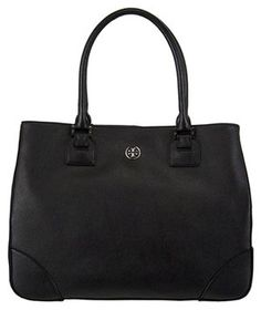 f8bf7bed7131 Robinson New East To West + Tax Favorite Of Celebrities Black Saffiano Leather  Tote. The Tory Burch ...