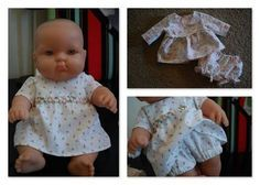 Lots of free doll clothes patterns